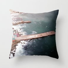 Cold Dark Sea Throw Pillow