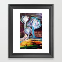 Night Is A World Lit By … Framed Art Print