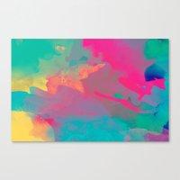 The Colors Mix Canvas Print