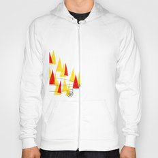 Flaming Skateboard Hoody
