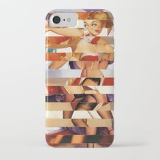 Glitch Pin-Up Redux: Amber iPhone 7 Slim Case