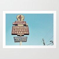 Sunshine Laundry Cleanin… Art Print