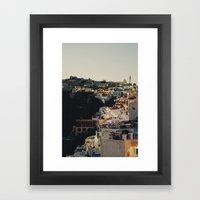 Fira at Dusk Framed Art Print