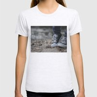 Converse Womens Fitted Tee Ash Grey SMALL