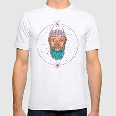 Mountain Of A Beard Mens Fitted Tee Ash Grey SMALL