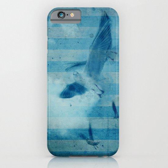 seagull in cyan iPhone & iPod Case