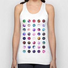 Rainbow Nebula Galaxy Girly Polka Dots Pattern Unisex Tank Top
