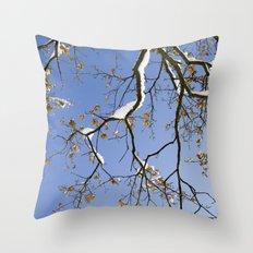 Snowy Branch Throw Pillow