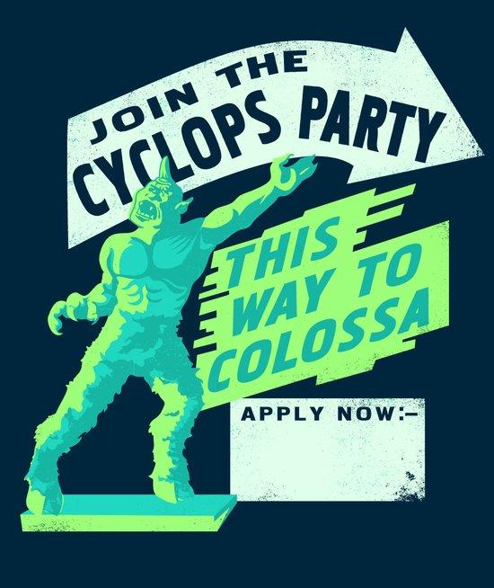 Cyclops Party Art Print