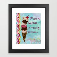 Ice Cream Happiness Framed Art Print