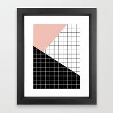 Minimal Geometry Framed Art Print