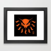 9 Tailed Beast Framed Art Print