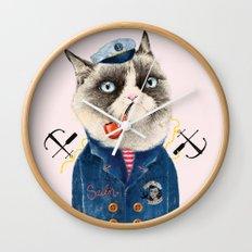 Sailor Cat VII Wall Clock