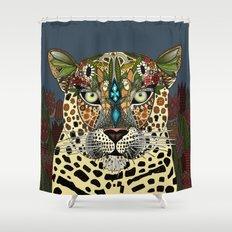 leopard queen blue Shower Curtain