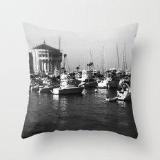 Catalina Harbor Throw Pillow