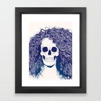 SKull GIrls 2 - Sea Navy Framed Art Print
