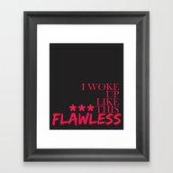 ***Flawless Framed Art Print