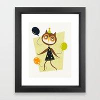 Owlivia And Her Belliger… Framed Art Print