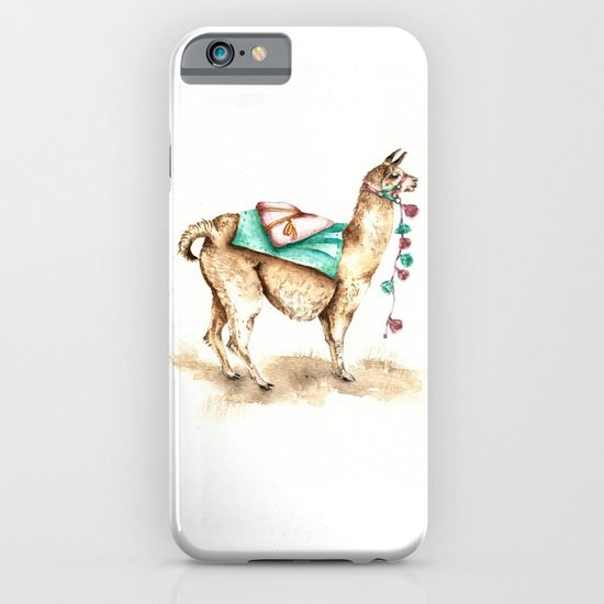 Watercolor Llama iPhone & iPod Case