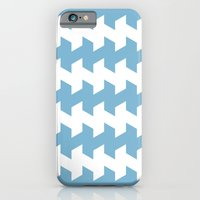 jaggered and staggered in dusk blue iPhone 6 Slim Case