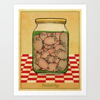 Pickled Pig Revisited Art Print