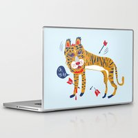 tiger Laptop & iPad Skins featuring tiger by echo3005