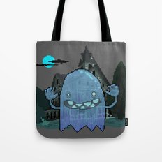 Pixel Ghost Tote Bag