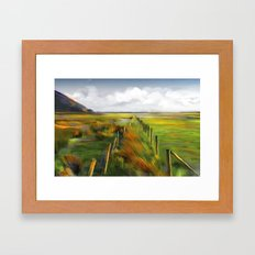 Achill Island Ireland / landscape, painting Framed Art Print