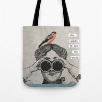 she wants to see the world Tote Bag