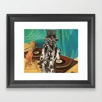 high class music Framed Art Print