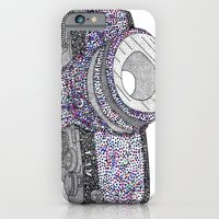 camera iPhone & iPod Cases featuring camera by smurfmonster