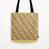 Forest Green Gun Pattern Tote Bag