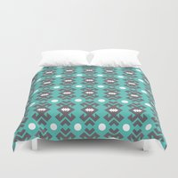 Teal Pattern Duvet Cover