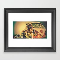 Live Free Vintage Framed Art Print