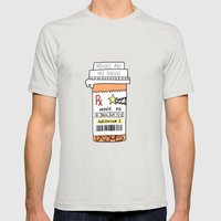 Movies are my drug Mens Fitted Tee Silver SMALL