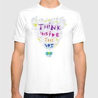 Think Inside The Box Mens Fitted Tee White SMALL