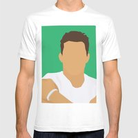 Channing Tatum Portrait … Mens Fitted Tee White SMALL