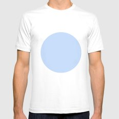 blue circle Mens Fitted Tee White SMALL