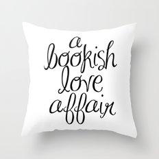 CUSTOM ORDER - ABOOKISHLOVEAFFAIR (B&W) Throw Pillow