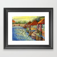 Pulling You In - Colored… Framed Art Print