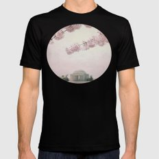 Washington DC Cherry Blossoms SMALL Mens Fitted Tee Black