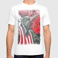 Raven graffiti White Mens Fitted Tee SMALL