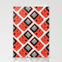 Gameboy Color: Red (Patt… Stationery Cards