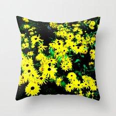 Yellow Flowers (Edited)  Throw Pillow