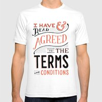 Terms and Conditions Mens Fitted Tee White SMALL