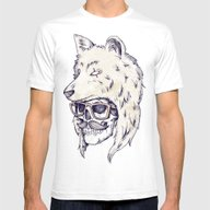 WOLF HAT Mens Fitted Tee White SMALL