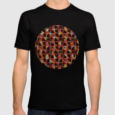 scribble (mixed) SMALL Mens Fitted Tee Black