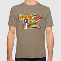 Austin TX Mens Fitted Tee Tri-Coffee SMALL