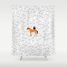 Owl Unicorn Shower Curtain