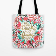 The Earth Laughs In Flow… Tote Bag